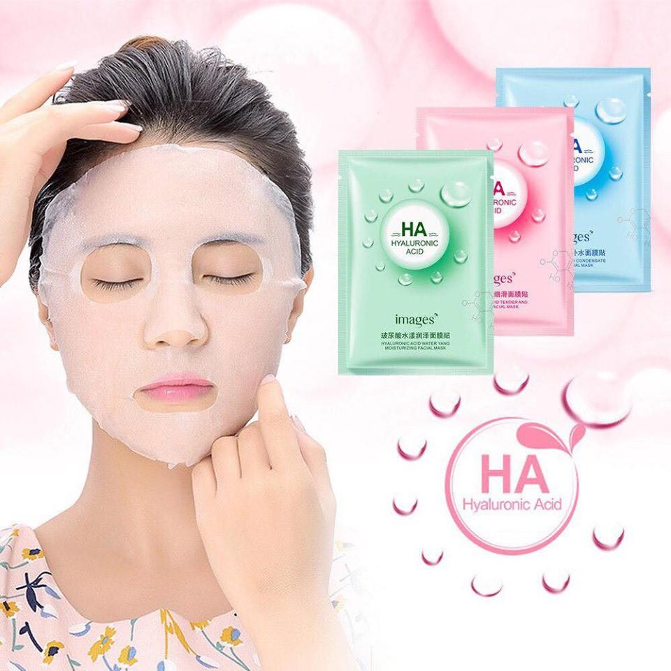 Mặt nạ giấy dưỡng trắng da mụn cấp ẩm thải độc HA Images - mn02