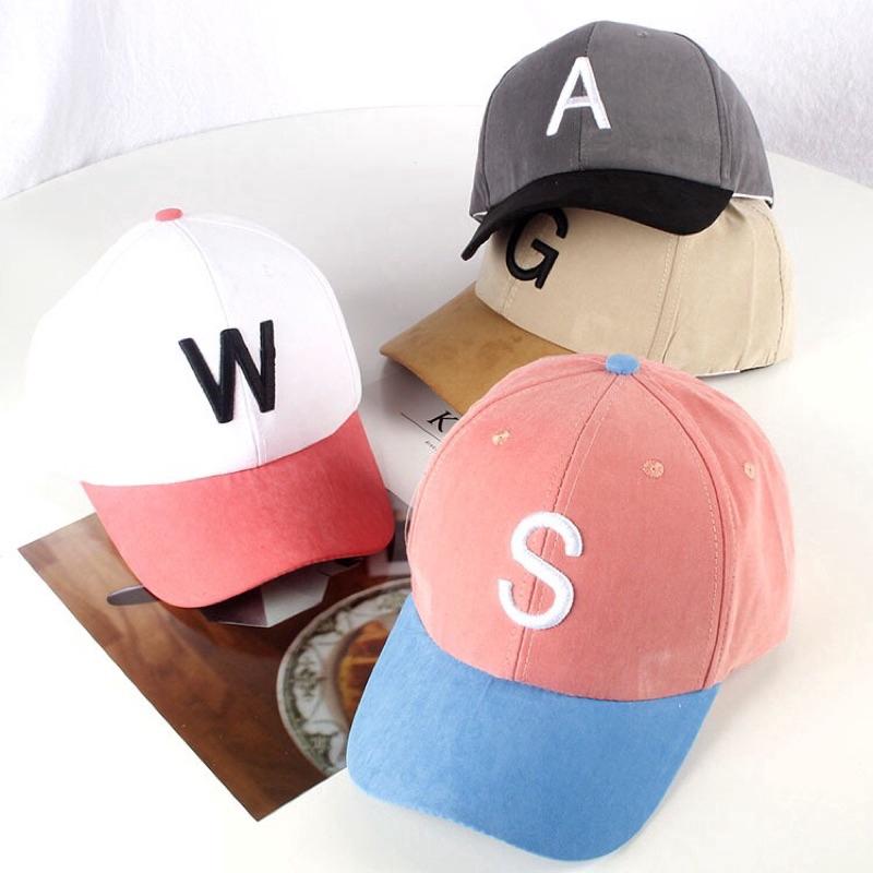 Suede baseball cap, parent-child cap