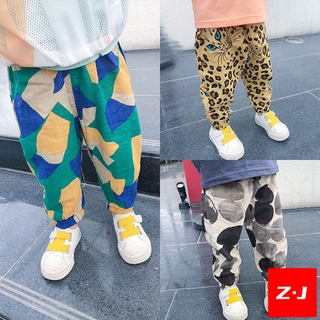 【Z·J】 Spot Children Children's Clothing Men's Pants Boy Girls' Anti-Mosquito Pants Korean-Style Harem Pants Summer Thin Cotton and Linen Pants Baby Slacks Other Cute Overseas Shipment Preferential