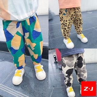 【Z·J】 Spot Children Children's Clothing Men's Pants Boy Girls' Anti-Mosquito Pants Korean-Style Harem Pants Summer Thin Cotton and Linen Pants Baby Slacks Other Cute Overseas Shipment Preferential