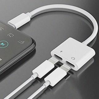 Lightning chia đầu cho iphone 7 – X hỗ trợ nghe nhạc và sạc pin cùng lúc