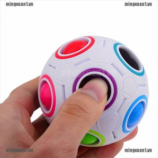 MINONE Rainbow Magic Ball Plastic Cube Twist Puzzle Children's Educational Toy