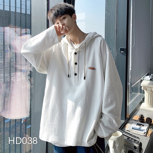HD038 - ÁO HOODIE KIỂU NÚT POLO VN CLO UNISEX