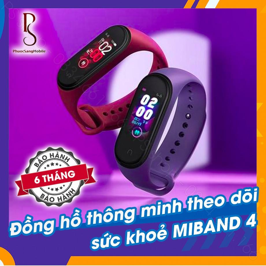 Vòng đeo tay thông minh theo dõi sức khỏe Xiaomi Mi Band 4 / MiBand 4 - Màu đen, đỏ mận, xanh, đỏ cam