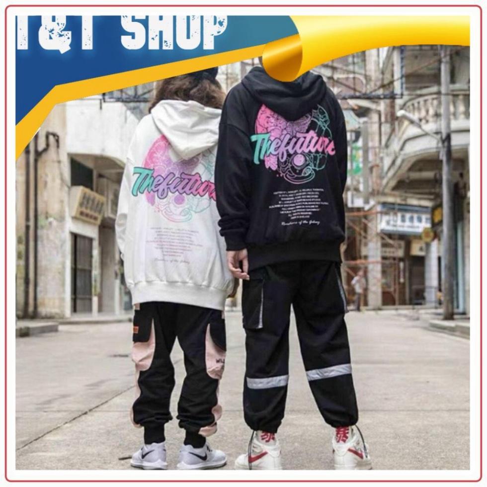 Áo tay dài nam nữ, áo hoodie in hình THE FUTURE unisex, chất nỉ dày dặn trẻ trung dành cho nam nữ T&T Shop