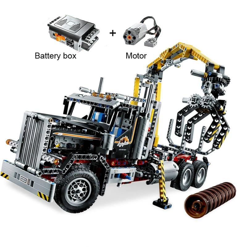 Lepin 20059 Technic Logging Truck Building Blocks Compatible with Lego 9397 Batt