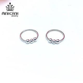 Bông Tai Trẻ Em 3 Bi Tròn - Minh Canh Jewelry