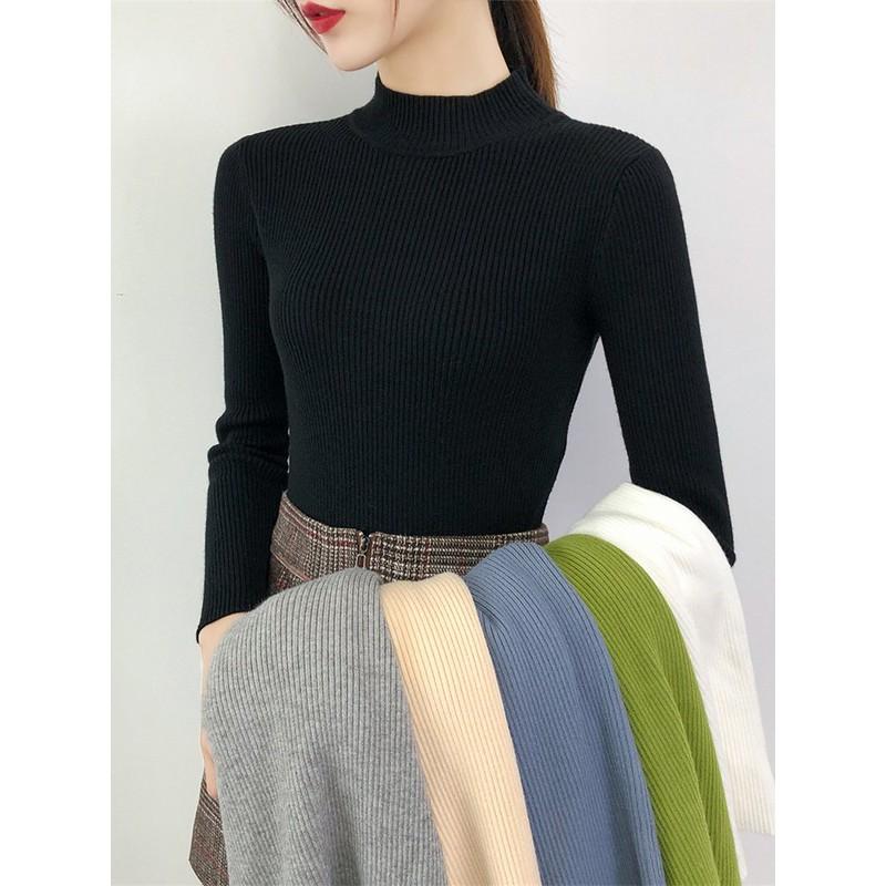Áo Len Tăm Cổ 3 Phân mềm mịn, co giãn, nhiều màu dễ phối đồ