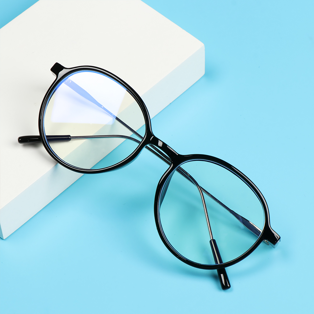 CLEVER Women Men Anti-Blue Light Glasses Computer Eye Protection Eyeglasses Portable Fashion Round Vintage Ultra Light Frame