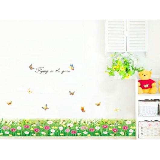 Decal cỏ hoa dán chân tường - 10070396 , 338218264 , 322_338218264 , 27000 , Decal-co-hoa-dan-chan-tuong-322_338218264 , shopee.vn , Decal cỏ hoa dán chân tường
