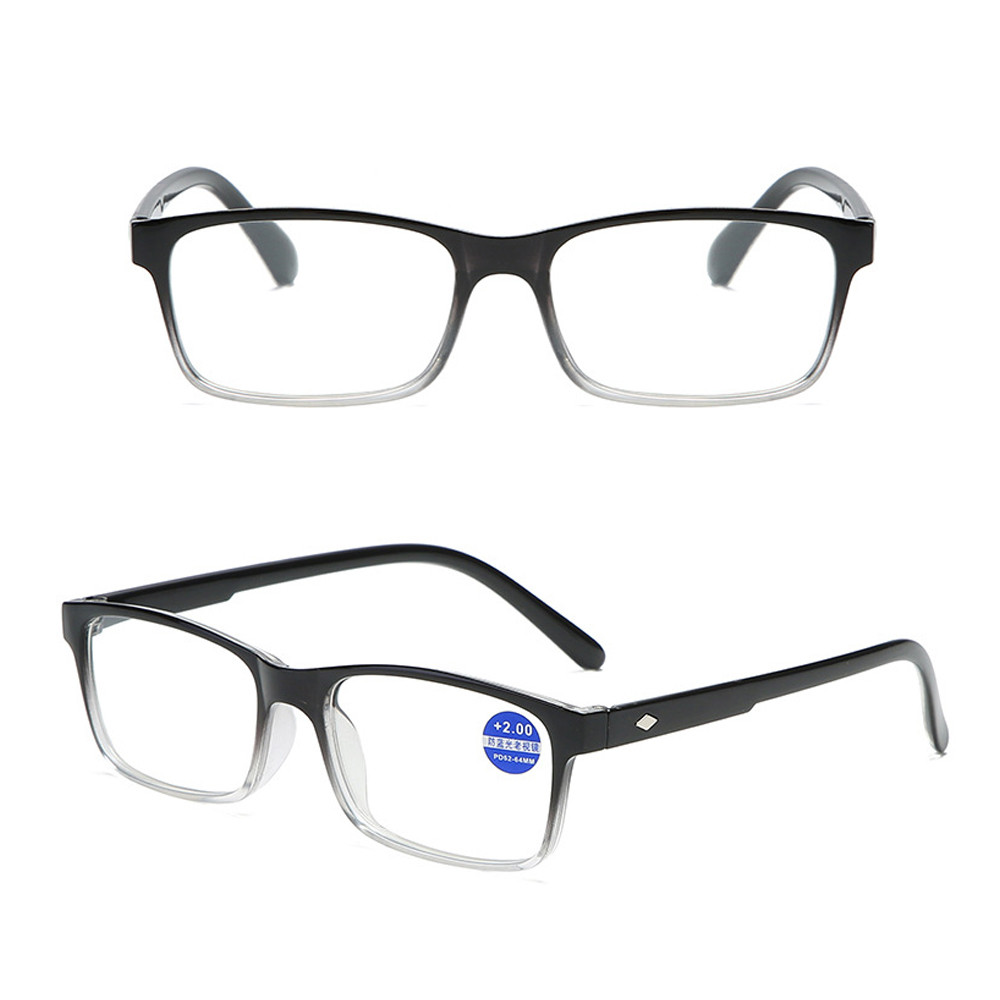 ❀SIMPLE❀ Fashion Blue Light Blocking Ultralight Presbyopic Glasses Gradient Reading Glasses Vision Care Diopter +1.0~4.0 Spring Hinge Eyewear Readers/Multicolor