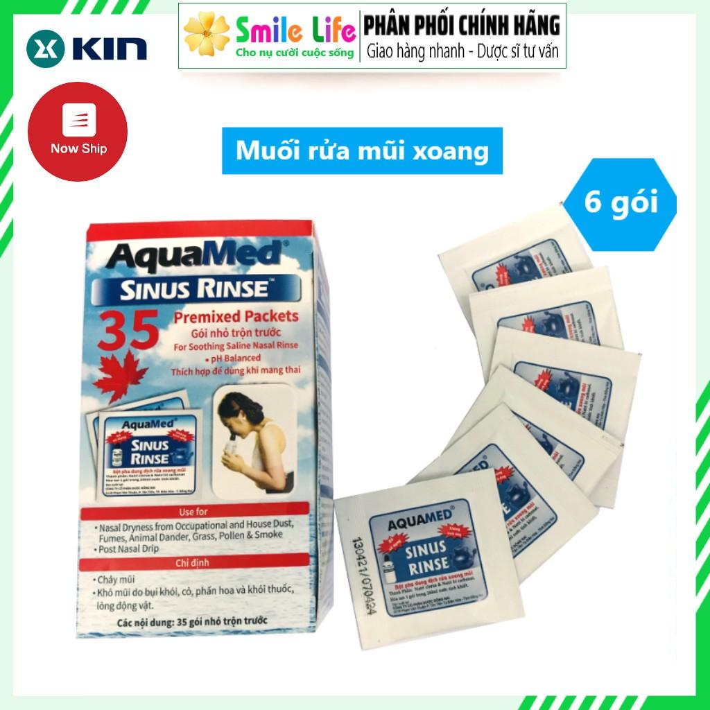 [6 gói] Muối pha rửa mũi xoang Aquamed ®