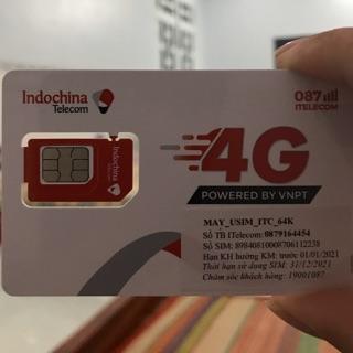 Deal sốc trải nghiệm Sim 4G Itelecom MAY 90Gb/tháng gọi miễn phí nội mạng Vinaphone & ITL và ngoại mạng 30 phút và 60SmS
