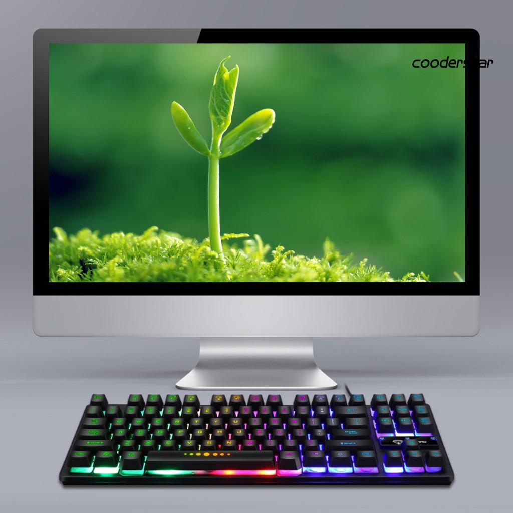 Bàn Phím Cơ 87 Phím Đèn Led Gk-10 Cho Laptop / Pc