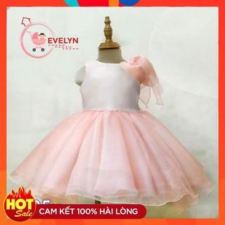 Đầm công chúa cho bé sơ sinh 💥 Freeship + TẶNG KÈM TURBAN 💥 Đầm Công chúa Evelyn Hồng VF05 E001 E003