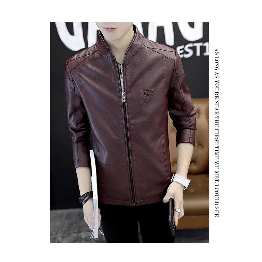 Áo da nam cao cấp, chất liệu da PU cao cấp, hàng có sẵn tại shop ở Hà Nội, Ship nhanh và có sẵn hàng