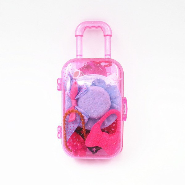 AD Fashion Travel Kits Hand-pulled Boxes Toy for Doll Toy Accessories