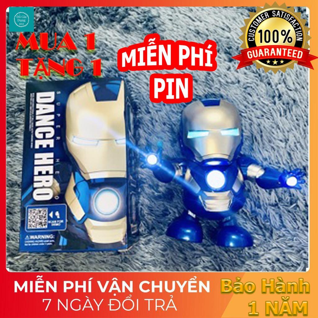 🍁MUA 1 TẶNG 1🍁Combo Robot Iron Women + Pin 1,5V cực cool nhảy tự động với nhạc