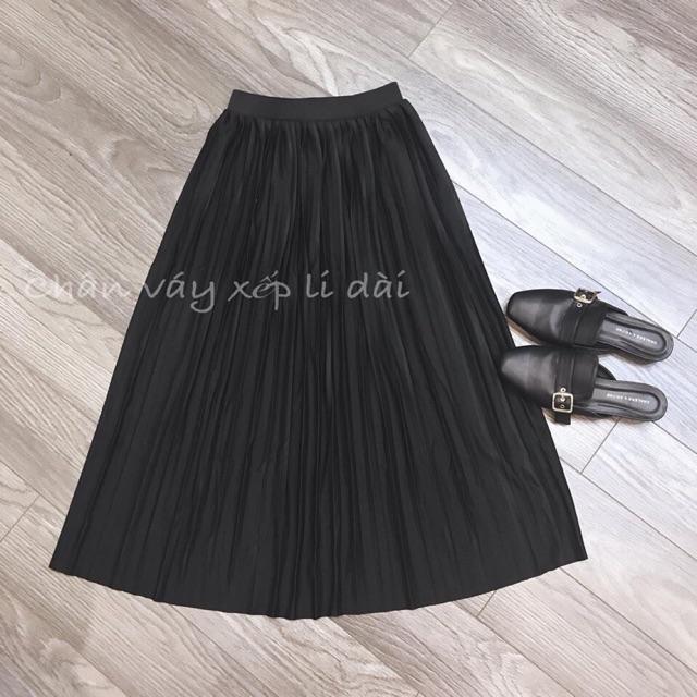 Chân váy xếp ly dài hàng đẹp