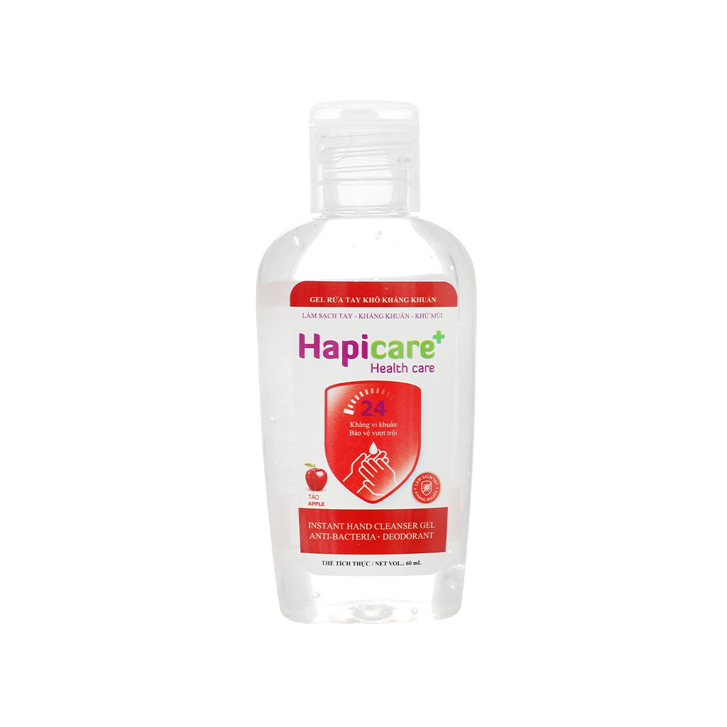 Gel rửa tay khô Hapicare+ Instant Hand Cleanser 60ml
