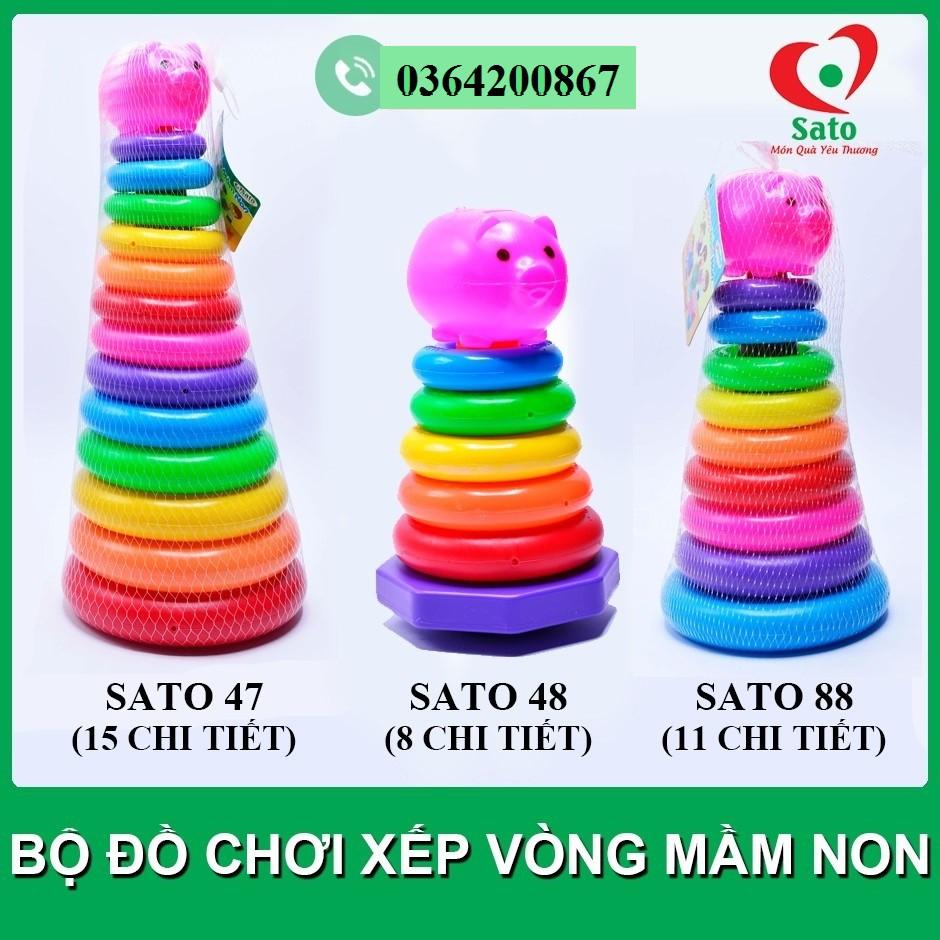 Bộ đồ chơi XẾP VÒNG MẦM NON Sato – Tháp xếp chồng