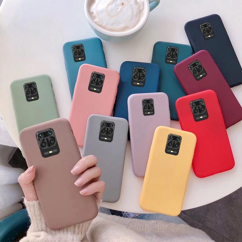 Ốp điện thoại TPU mềm màu kẹo ngọt dành cho Xiaomi Redmi Note 9S Redmi Note 8 Pro