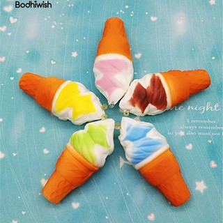☎10cm Jumbo Squishy Ice Cream Cone Slow Rising Kids bauble