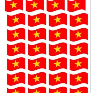 32 Miếng dán mặt cờ đỏ sao vàng cổ vũ Việt Nam