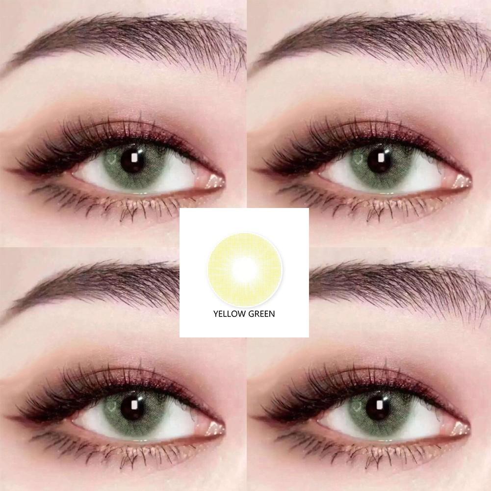Simrises 1 Pair Big Eyes Natural Comfort Men Women Fashion Circle Coloured Contact Lenses