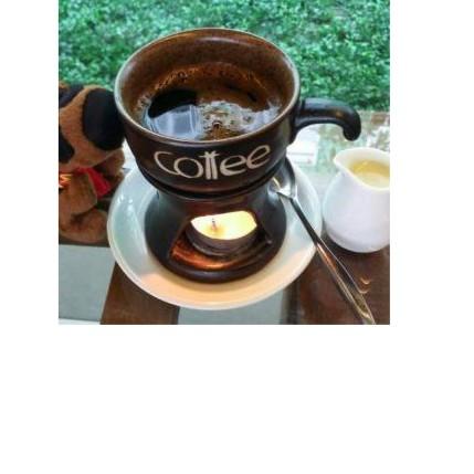 Bộ bếp đun + tách cafe (ko gồm nến)