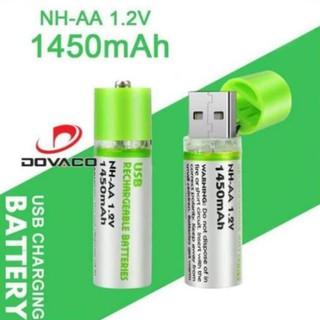 Pin tiểu AA sạc cổng USB 1.2V 1450mAh