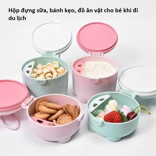 Hộp Đựng Sữa Bột, Đồ Ăn Tiện Dụng Cho Bé Khi Đi Chơi, Du Lịch Cùng Gia Đình thumbnail
