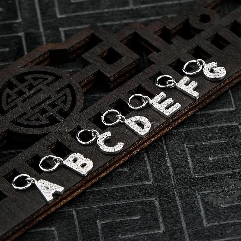 925 อุปกรณ์เสริมจี้เพชรจี้ตัวอักษร