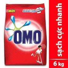 Bột giặt Omo Sạch cực nhanh 6kg đỏ