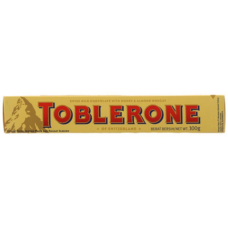 TOBLERONE - ทอปเบอโรนช็อกโกแลตนม 100กรัม Chocolates ช็อกโกแลตส์ ขนมขบเคี้ยว อาหารสำหรับเด็ก