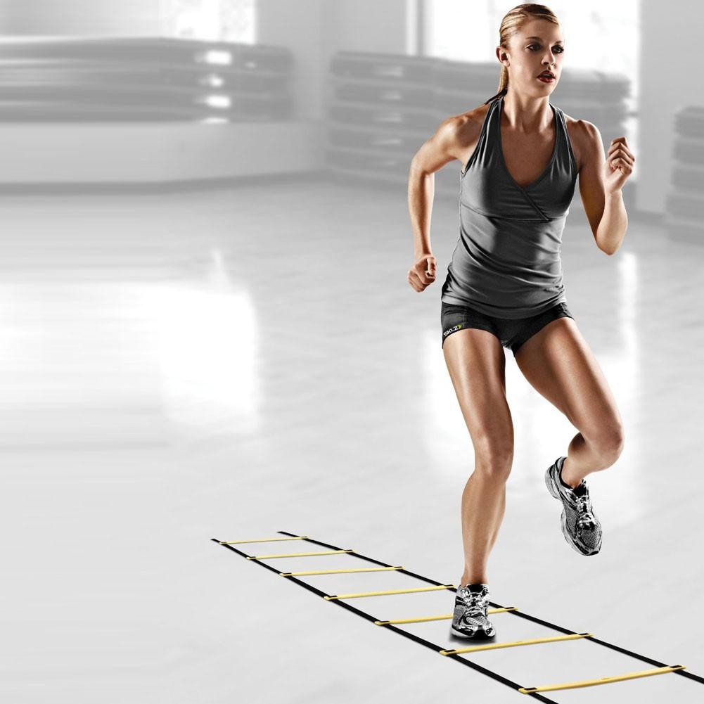 Bậc thang nhanh nhẹn 9 bậc 16,5 feet 5M để rèn luyện tốc độ bóng đá