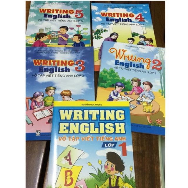 Sách - combo 5 cuốn sách writing English vở tập viết tiếng anh lớp 1,2,3,4,5
