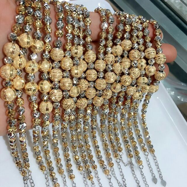 Lắc tay bạc cao cấp xi bạch kim và vàng dành riêng cho các chị em