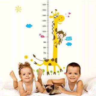 Decal hình hưu cao cổ dán tường đo chiều cao trẻ em thumbnail