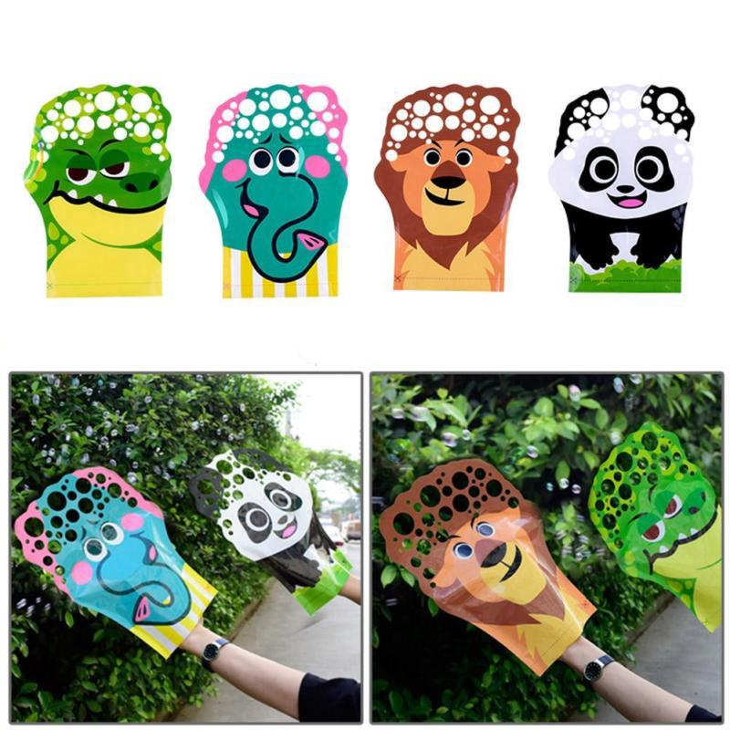 Cartoon Pattern Magic Palm Bubble Toy Colorful Bubble Blowing Glove For Kid Gift