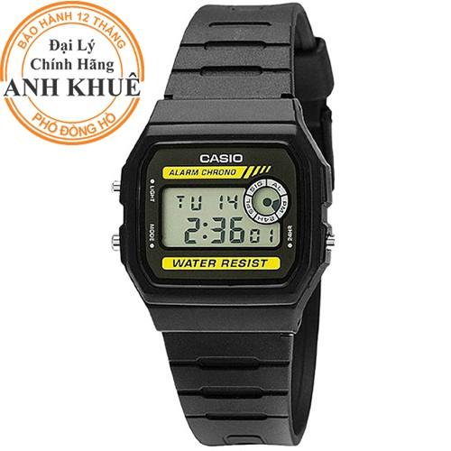 Đồng hồ nam dây nhựa huyền thoại Casio chính hãng Anh Khuê F-94WA-9DG