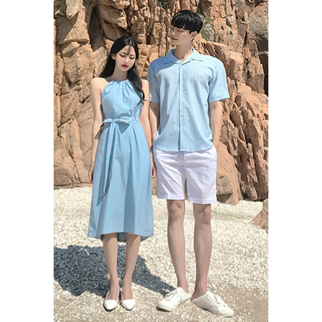 set áo váy sơ mi cặp cao cấp du lịch, chụp cưới đồ đôi thời trang thiết kế nam nữ chất đẹp màu xanh HOT 2019 - AV177 - 14761543 , 1637099381 , 322_1637099381 , 399000 , set-ao-vay-so-mi-cap-cao-cap-du-lich-chup-cuoi-do-doi-thoi-trang-thiet-ke-nam-nu-chat-dep-mau-xanh-HOT-2019-AV177-322_1637099381 , shopee.vn , set áo váy sơ mi cặp cao cấp du lịch, chụp cưới đồ đôi th