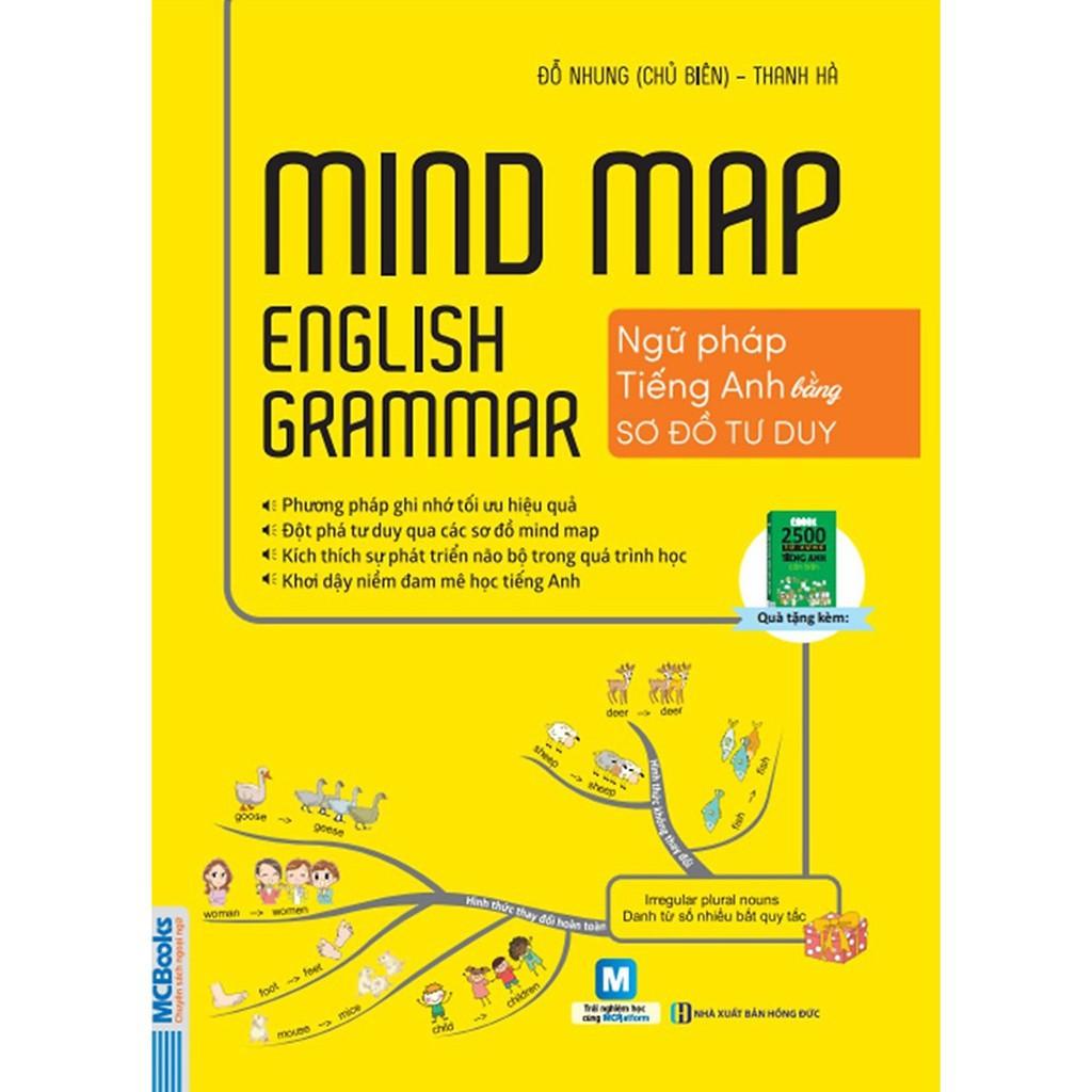 Sách - Mindmap English Grammar - Ngữ Pháp Tiếng Anh Bằng Sơ Đồ Tư Duy