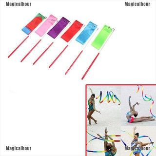 Magicalhour♥Gym Dance Ribbon Gymnastics Art Ballet Streamer Twirling Rod Outdoor Sport 2M