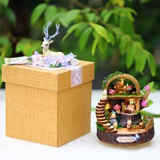 Mô hình nhà gỗ lắp ráp búp bê DIY – Kèm nhạc – Y005 Fantasy Forest