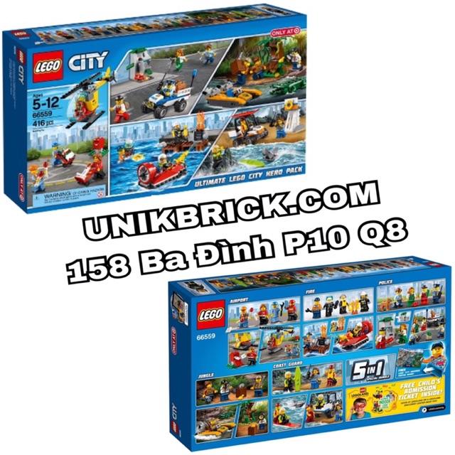 [CÓ SẴN] Lego UNIK BRICK 66559 Ultimate Lego City Hero Pack 5 IN 1 - Bộ LEGO 5 trong 1...