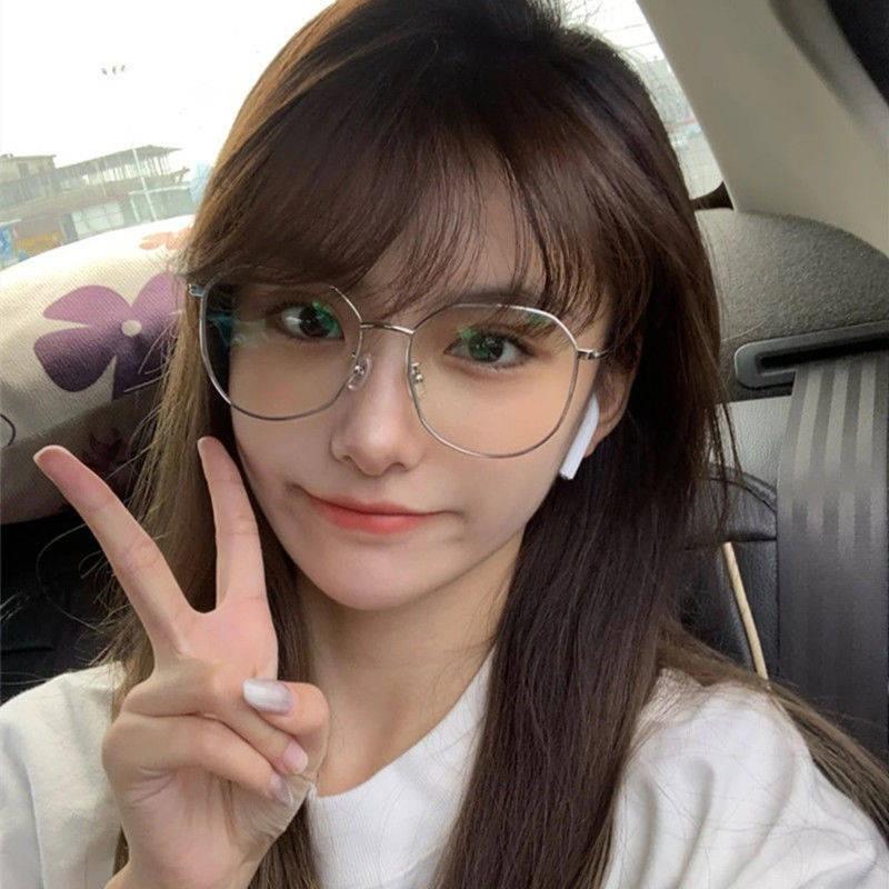Kính cận nữ Su Yan phiên bản Hàn Quốc chống cận thị chống bức xạ kính to gọng nhỏ