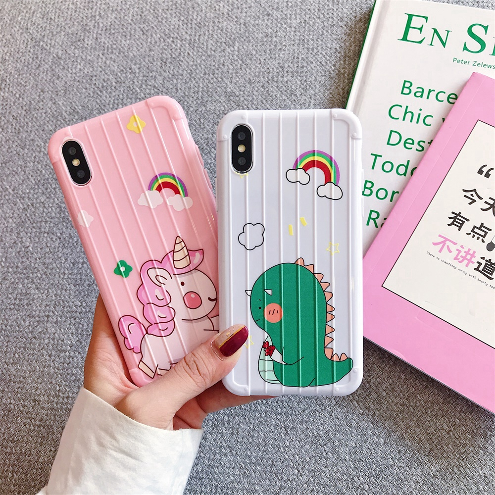 TPU Couple 11PRO MAX IPhone 11 PRO 6S 6Plus Cartoon Back cover Phone Case Protective 11 8 XS MAX