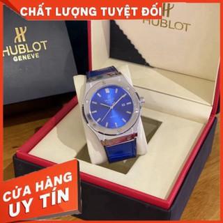 (Hublot viền trơn) Đồng hồ nam Hublot (Size 42MM) hàng đẹp, dây da fullbox - Bảo hành 12 tháng (Đồng hồ Hublot)