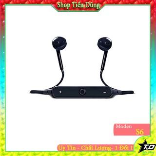 Tai nghe bluetooth s6 dòng tai nghe giá rẻ-Tai nghe không dây kiểu dáng tai nghe thể thao tiện loại khi tai nghe có mic